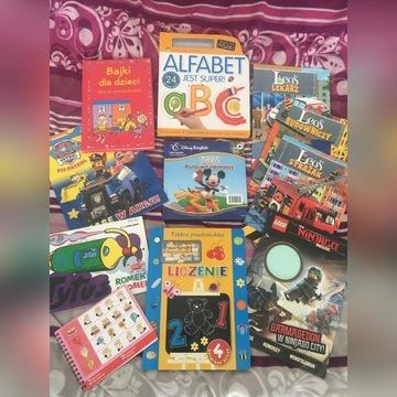 Książki edukacyjne 11 sztuk przedszkolak alfabet