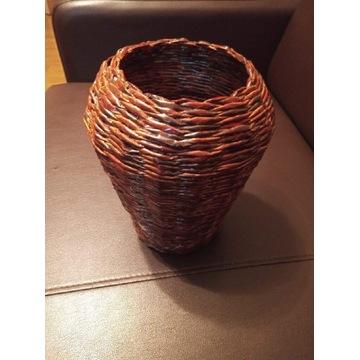 Koszyk - wazon z papierowej wikliny