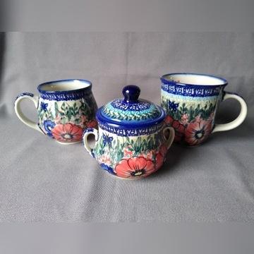 Kubki, cukiernica Ceramika Bolesławiec