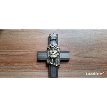 Święty KRZYŻ z głową Jezusa Chrystusa-real foto