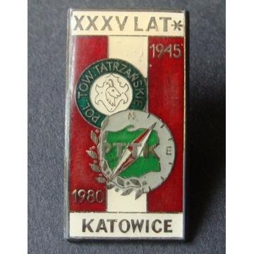 POL. Tow. Tatrzańskie. XXXV Lat. Katowice