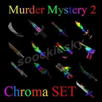 ROBLOX Murder Mystery 2 Chroma SET