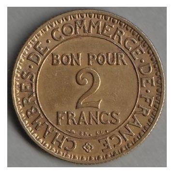 Francja 2 franki 1924 - stan 1/2