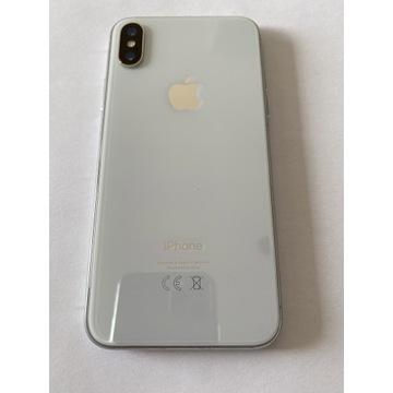 iPhone X 64GB Silver, nowe słuchawki i ładowarka