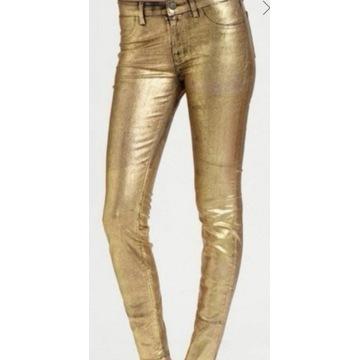 Spodnie woskowane bershka xs 34