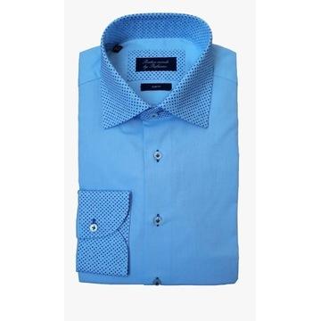 Błękitna koszula Profuomo rozm. 39 slim fit