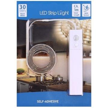 Taśma LED z czujnikiem ruchu 30 lampek LED 1 m