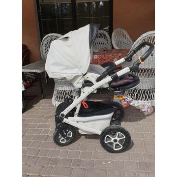 SUPER KOMFORTOWY wózek 3w1 TUTEK Timer eko skóra