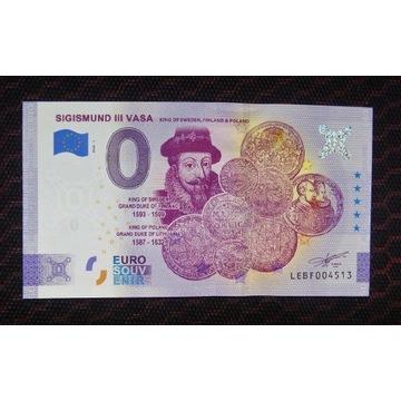 0 Euro - Zygmunt III Waza, wersja ANNIVERSARY, UNC