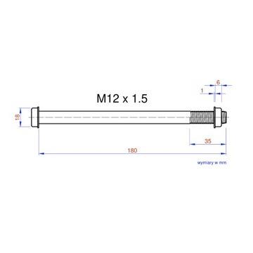 Adapter oś piasty tył M12 x 1,5 trenażer TacxFlow