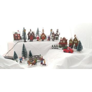 Wioska Świąteczna christmas village led