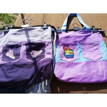 Jeansowe torby na lato-plażę-zakupy!