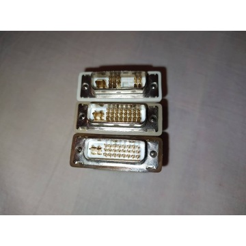 3x adapter przejściówka DVI-A DVI-I D-SUB VGA