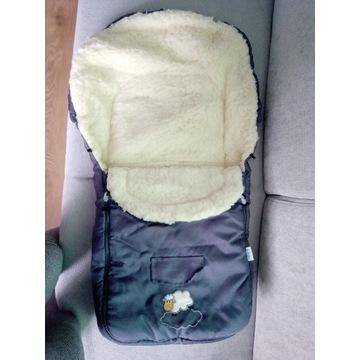 Śpiworek do wózka Sensillo wełna 3-warstwy 95x40cm