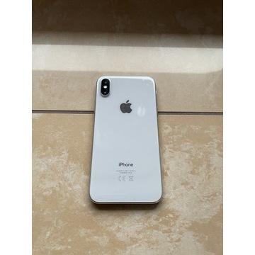 iPhone X 256 GB Srebrny / Biały + 10 etui B.Dobry