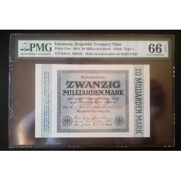 Niemcy 20 Mld Marek 1923 r