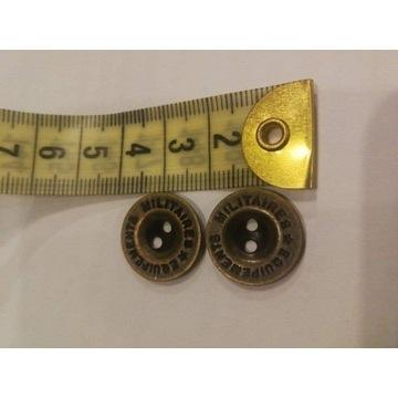 guzik metalowy miedziany 2 dziurk 1000 sztuk 20 mm