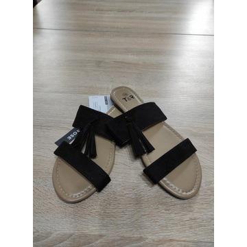 Damskie sandały czarne rozmiar 37 nowe