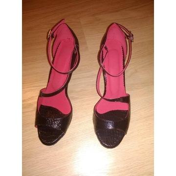 Buty taneczne czarne krokodyl