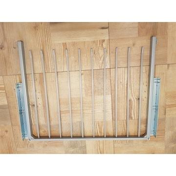 Wysuwana półka metalowa z prowadnicami, do szafy