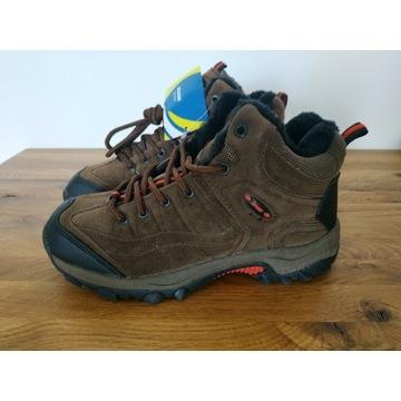 NOWE nr 37 Ocieplane buty trekkingowe