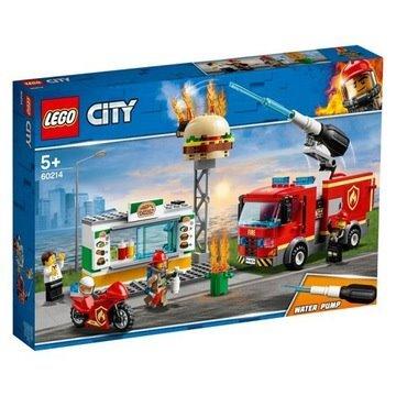KLOCKI LEGO CITY NA RATUNEK W PŁONĄCYM BARZE 60214