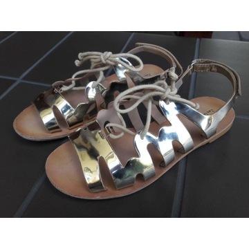 Złote sandałki dla dziewczynki ZARA roz. 31