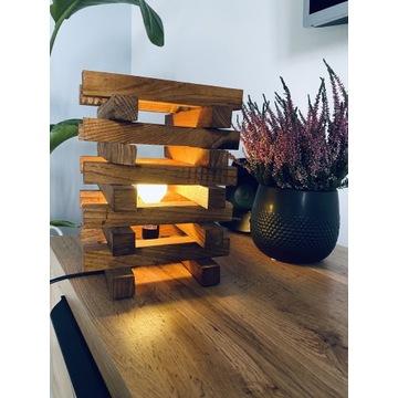Lampa Loft drewniana Led rustykalna