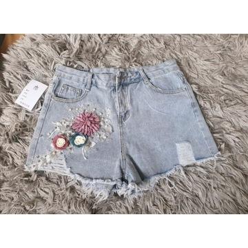 Nowe spodenki jeansowe wysoki Stan, nowe r. XL