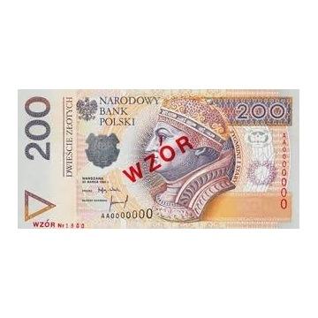 200 zł seria 5szt. numery w kolejności prz GRATIS