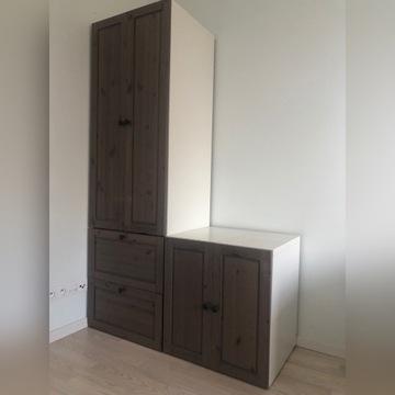 IKEA szafa szarobrązową system SUNDVIK z szafka