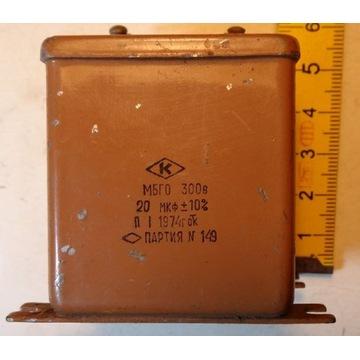 Kondensator MBGO PIO (paper in oil) 20uF 300V
