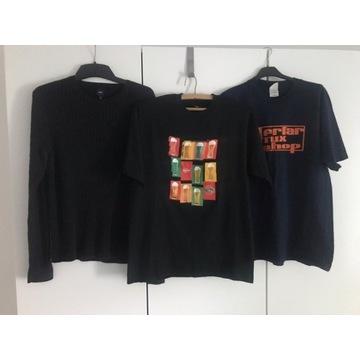 Zestaw ubrań męskich M sweter czarny t-shirt piwo