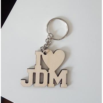 Brelok I LOVE JDM * sklejka 3mm, serce ***