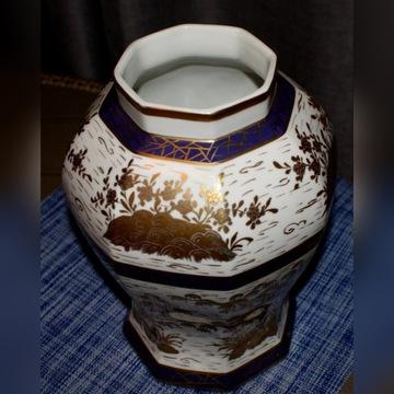 Wazon Amfora porcelana złocenia
