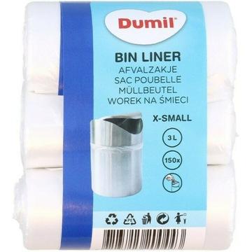 Worki na śmieci Dumil 150 sztuk   3 litry B.Małe
