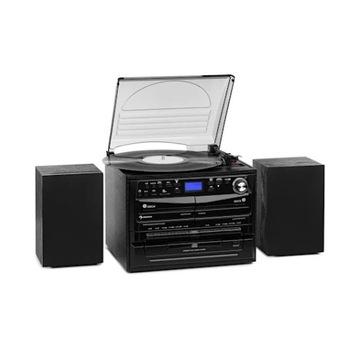 GRAMOFON WIEŻA STEREO USB CD AUX DAB+ FM BT REC