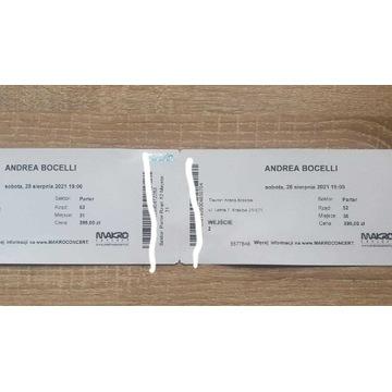 2 bilety Andrea Bocelli