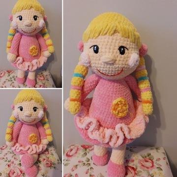 Lalka na szydełku maskotka pluszak handmade