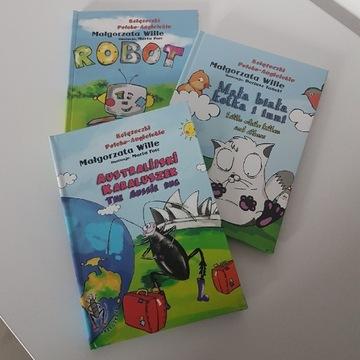 Książeczki Polsko-Angielskie - zestaw 3 tytułów