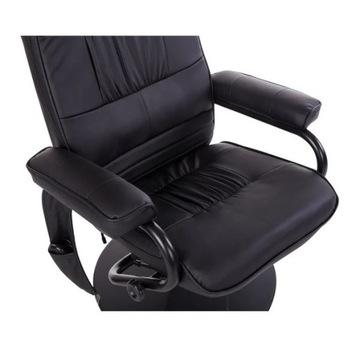 Fotel masujący ogrzewany relaksujacy wibrujący