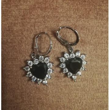 Eleganckie srebrne kolczyki crystals srebro 925