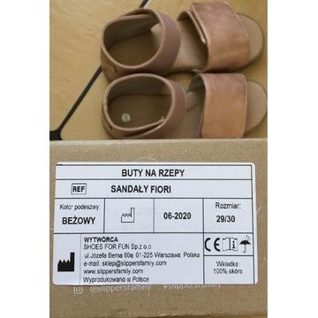 Sandały skórzane slippers Family roz 29/30