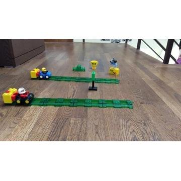 Wyścigówki LEGO Duplo + tor i wyrzutnie