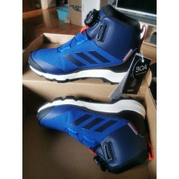 Adidas TERREX zimowe buty dziecięce z automatem.