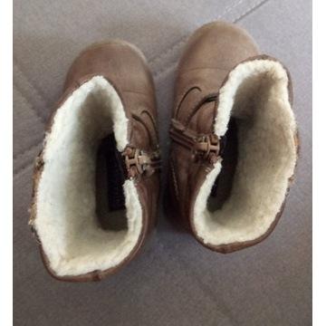 Buty dziecięce kozaki zapinane na suwak