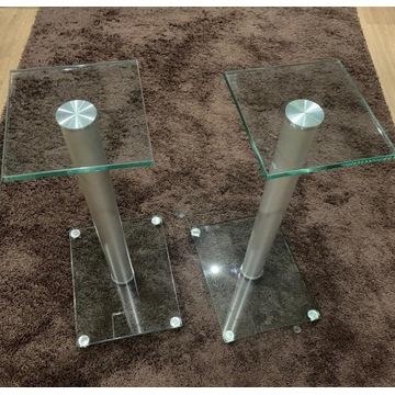 Podstawki  pod kolumny szklane 64cm