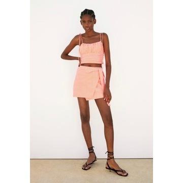 Spodnicospodnie Zara S 36 kratka vichy mini NOWE