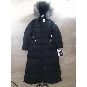 Płaszcz puchowy, długi DKNY nowy z metką S
