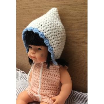 Czapka bonetka dla lalki Miniland